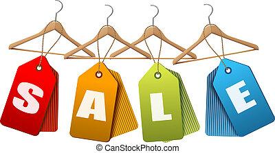 セール, tags., 概念, の, 割引, shopping., ベクトル, イラスト