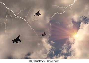 ソビエト, 戦闘機, 雷雨