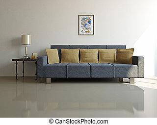 ソファー, テーブル, livingroom