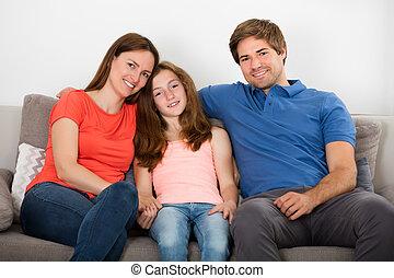 ソファー, 家族, モデル