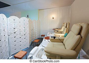ソファー, 爪, 大広間, 椅子, ペディキュア