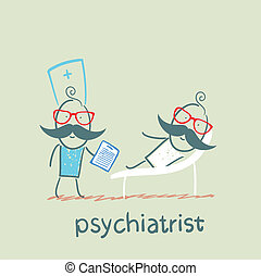 ソファー, 言う, 患者, あること, 精神科医