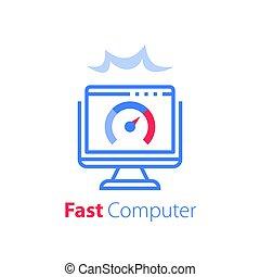 ソフトウェア, アクセス, antivirus, コンピュータ, 解決, 速い, インターネット, 概念, モニター