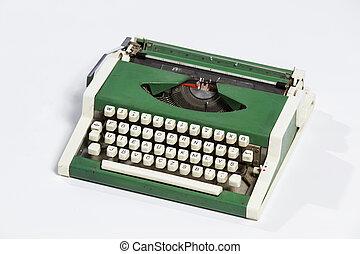 タイプライター, 古い, typewriter., シート, ブランク