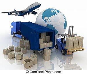 タイプ, の, 輸送, の, 輸送, ありなさい, loads.