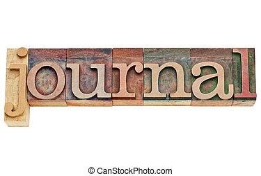 タイプ, ジャーナル, 木, 単語, 凸版印刷