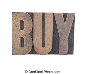 タイプ, 古い, 木, 買い物