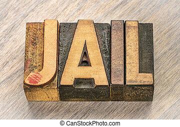 タイプ, 木, 単語, 刑務所