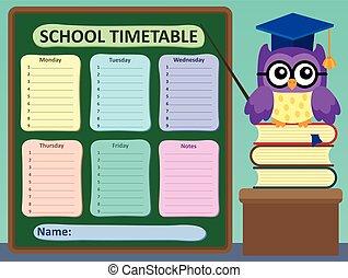 タイムテーブル, 学校, 毎週