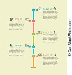 タイムライン, infographic, チャート, 要素