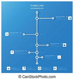 タイムライン, infographic, デザイン, ビジネス, テンプレート