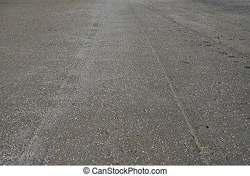 タイヤ, sea., 自動車, 砂のビーチ, 跡