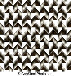 タイル, パターン, seamless, 長方形, 黒, 白