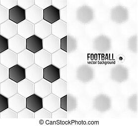 タイル, フットボール, プラスチック, 背景, 幾何学的なバナー, 六角形