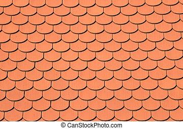 タイル, 屋根, 手ざわり