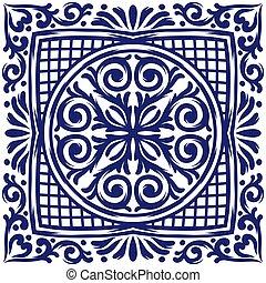 タイル, 磁器製品, イタリア語, 地中海, セラミック, pottery., pattern.