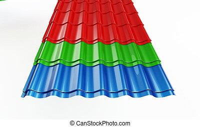 タイル, 金属, 屋根
