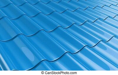 タイル, 青, 金属, 屋根