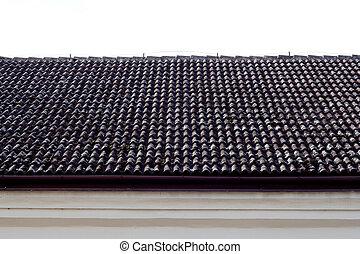 タイル, 黒, 屋根, 背景