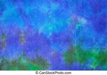 タイ染料, 背景, 絹, 青緑色