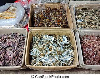 タイ, 乾きなさい, 箱, セール, fish, グループ
