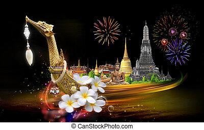 タイ, 旅行, 概念