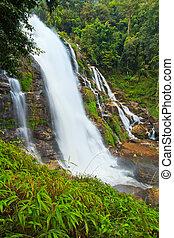 タイ, 滝, 森林, アジア, rainforest