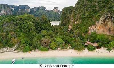 タイ, 航空写真, 浜, 光景