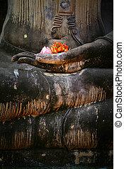 タイ, landmark., 古代, 仏, statue., スコータイ, 歴史的, p