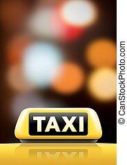 タクシーの印