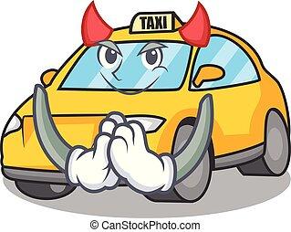 タクシー, スタイル, 悪魔, 特徴, マスコット