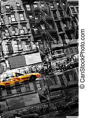 タクシー, ニューヨークシティ, 抽象的