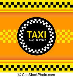 タクシー, ベクトル, イラスト, シンボル