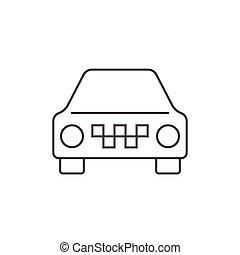 タクシー, 自動車, アウトライン, アイコン