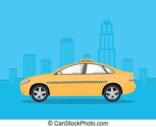 タクシー, 自動車