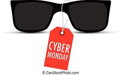 タグ, サングラス, cyber, 月曜日