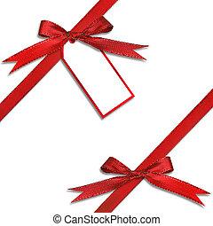 タグ, プレゼント, 贈り物, 掛かること