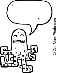 タコ, スピーチ, 漫画, 泡