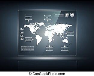 タッチスクリーン, 透明