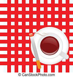 タバコ, コーヒーカップ