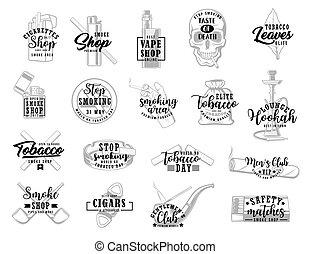 タバコ, タバコ, 葉, 印, 煙, 喫煙