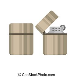 タバコ, ベクトル, illustration., より軽い