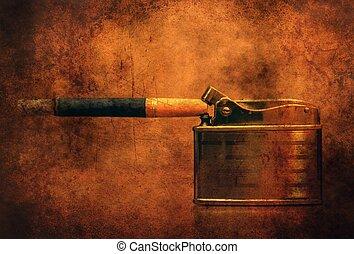 タバコ, 概念, グランジ, より軽い