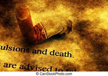 タバコ, 概念, グランジ, 死