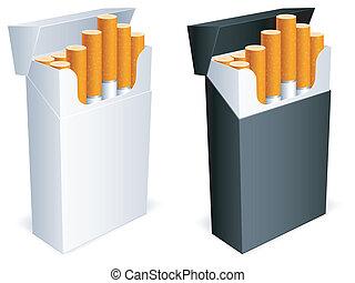 タバコ, pack.