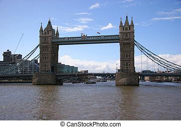 タワー橋, 中に, ロンドン