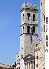 タワー, の, ∥, 人々が中にいる, assisi
