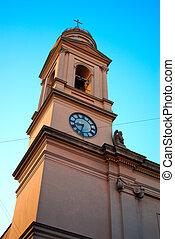 タワー, の, 教会