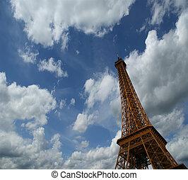 タワー, エッフェル, フランス, パリ