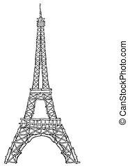 タワー, エッフェル, 構造, 小枝
